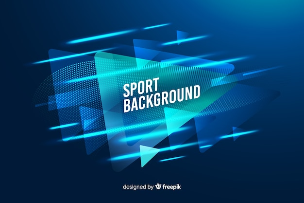 Sport background with abstract shapes