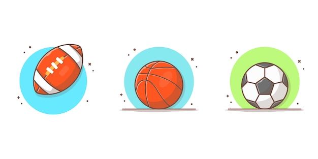 Sport ball collection  icon illustration
