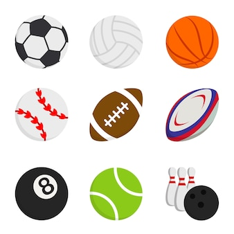 Sport ball game rugby volleyball basketball bowling football baseball tennis badminton
