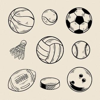 Sport ball Premium Vector