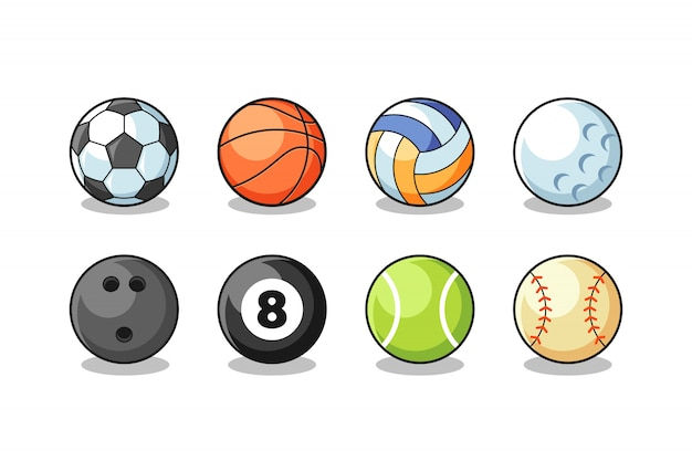Sport balls collection vector