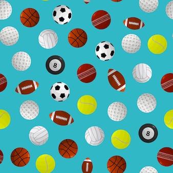 Спортивные мячи для разных игр бесшовные модели