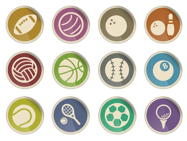 Sport balls simply symbol for web icons