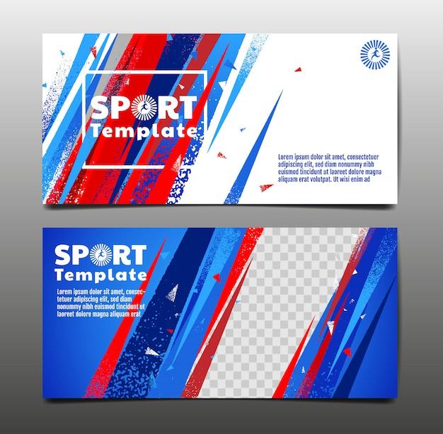 Sport banner templates