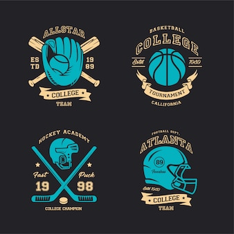 Sport baseball rugby hockey basketball illustration