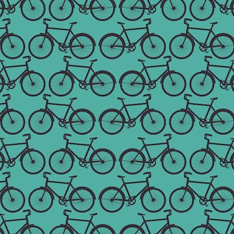 Sport bicycle pattern background