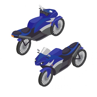 Sport bike isometric transportation