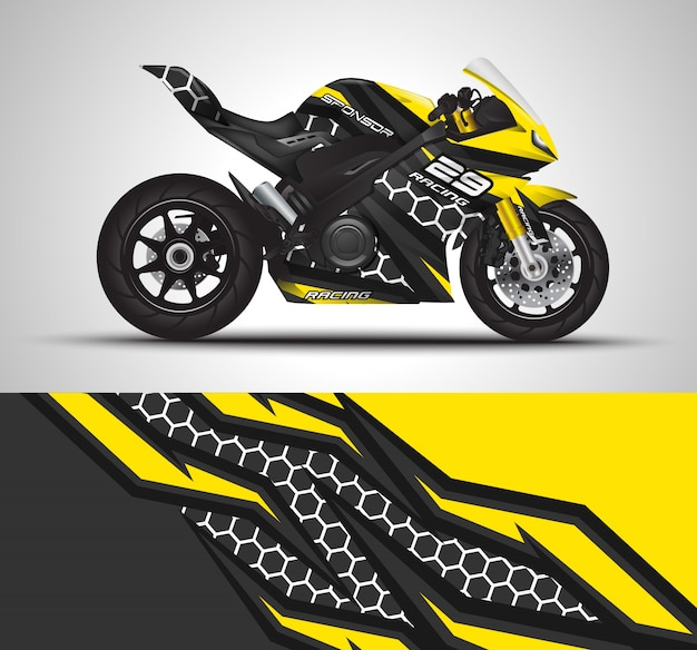 Sport bikes wrap decal and vinyl sticker illustration