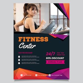 Concetto di brochure sportiva
