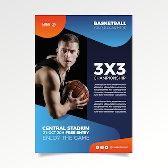 Concetto di modello brochure sport
