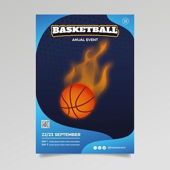 Спортивный стиль шаблона брошюры
