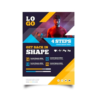 Шаблон спортивной брошюры