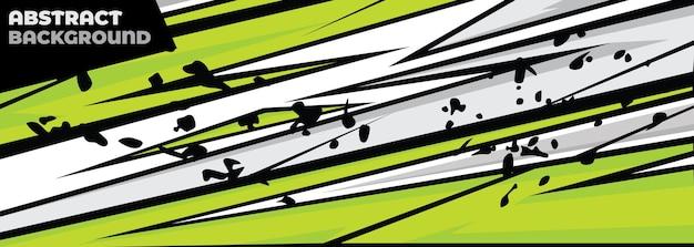 スポーツカーデカール抽象的な幾何学的なスタイル
