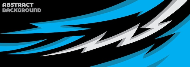 Sport car decal abstract geometric style