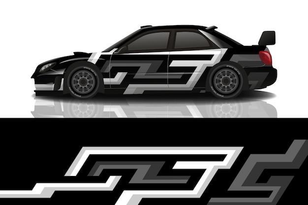 Спортивный автомобиль наклейка дизайн вектор