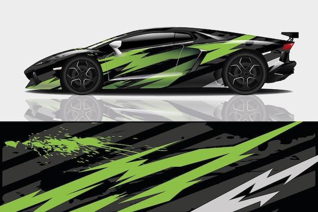 Спортивный автомобиль наклейка обернуть дизайн вектор