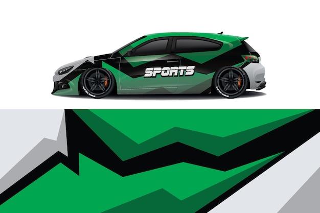 スポーツカーデカールラップデザインベクトル