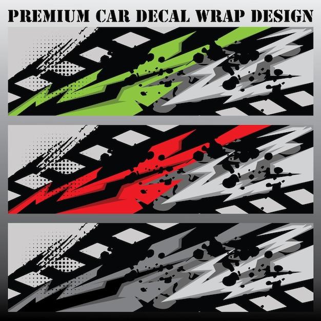 Sport car decal wrap design vector