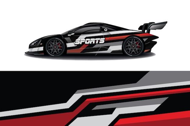 Дизайн наклейки для спортивного автомобиля