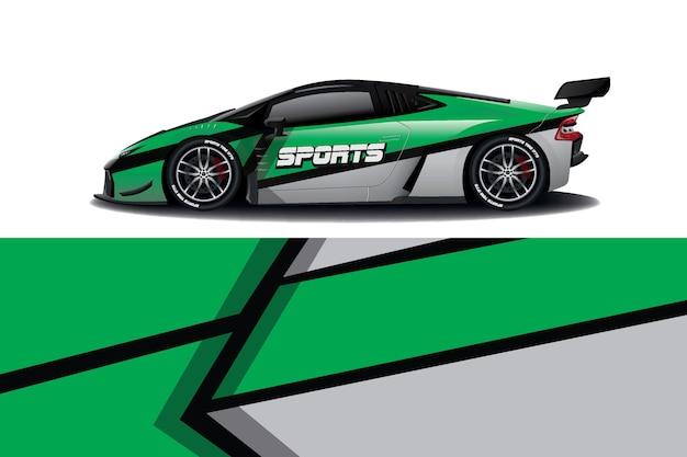 Дизайн наклейки на спортивный автомобиль