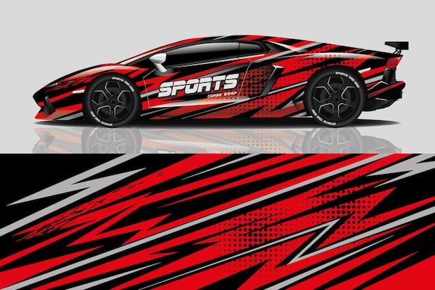 スポーツカーデカールラップデザイン