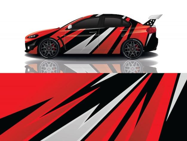 Sport car decal wrap design