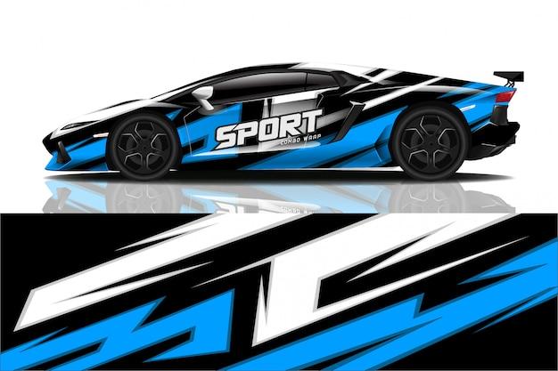 Sport car decal wrap