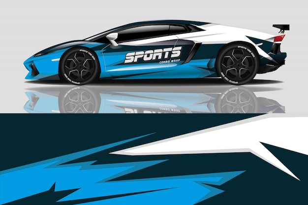 Sport car decal wrap