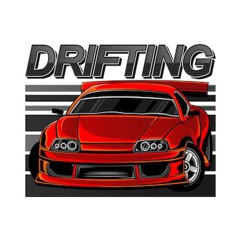 Sport car drift