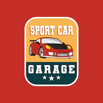 Sport car garage badge logo