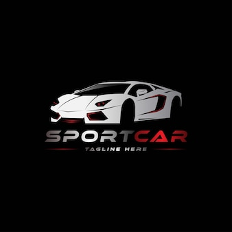 Sport car logo template perfect logo for business related to automotive industry