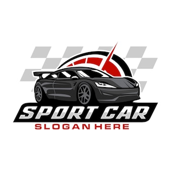 Sport car logo template
