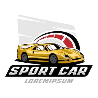 Шаблон логотипа спортивного автомобиля
