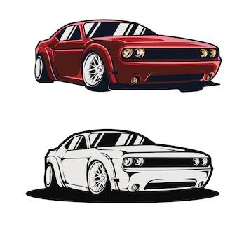 スポーツ車や現代の車のイラスト