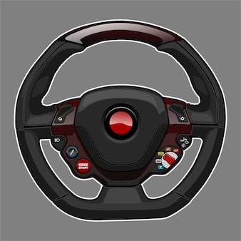 Sport car steering wheel