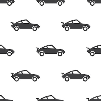 Sport car, vector seamless pattern, editable can be used for web page backgrounds, pattern fills