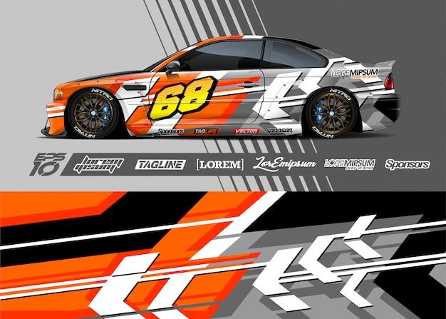 Sport car wrap abstract racing design