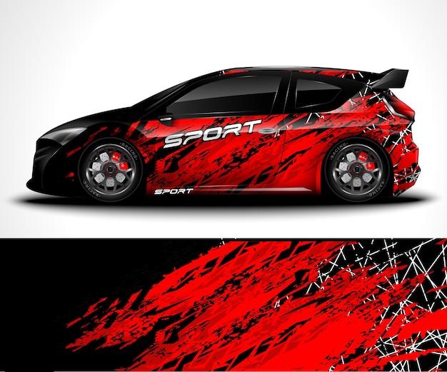 Покрытие спортивного автомобиля и ливрея автомобиля