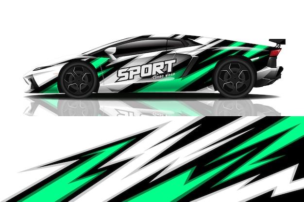 Sport car wrap decal design