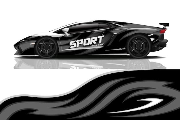 Дизайн наклейки на спортивную машину