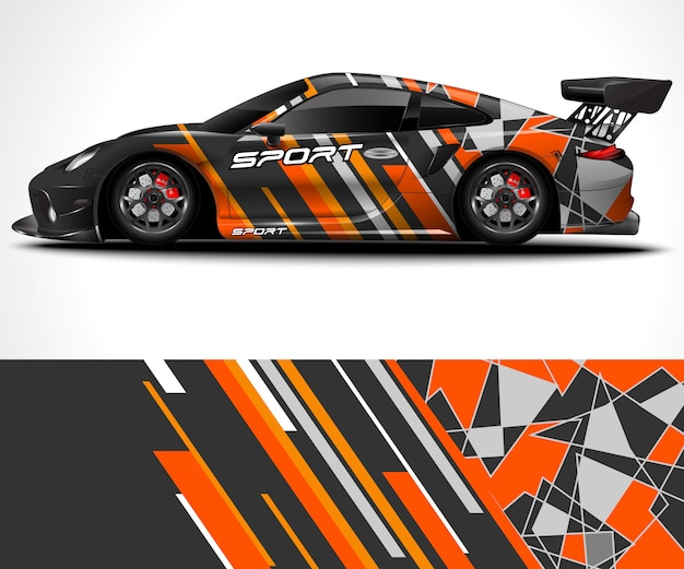 Дизайн спортивной машины и окраска автомобиля
