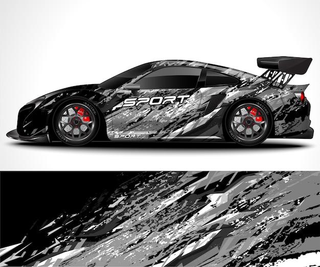 Дизайн упаковки спортивного автомобиля и ливрея автомобиля