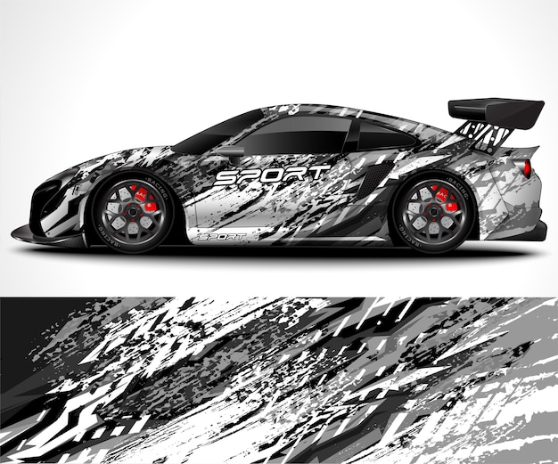 Sport car wrap design and vehicle livery
