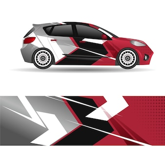 Sport car wrap design
