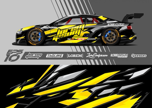 Sport car wrap designs