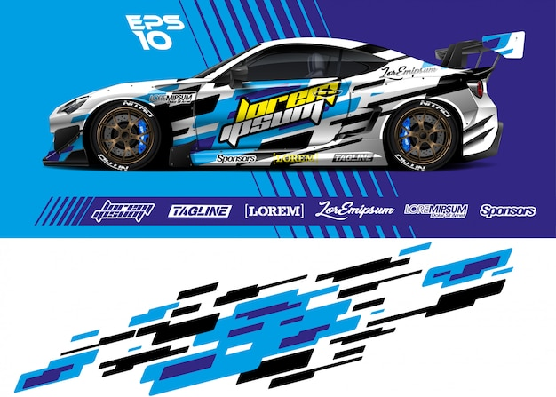 Sport car wrap livery design