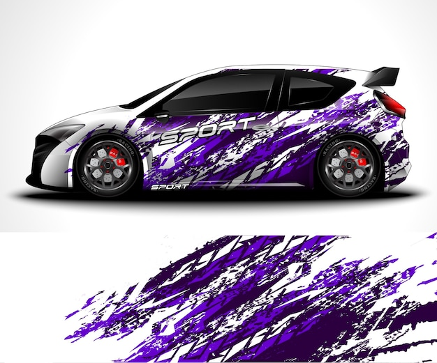 Sport car wrap and vehicle livery