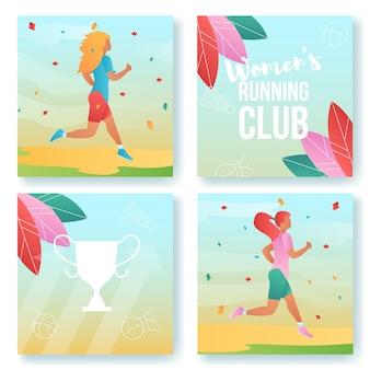 Sport cartoon characters cards