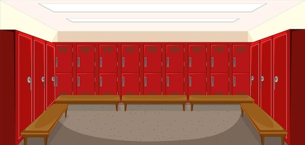 Спортивная раздевалка с фоном шкафчика
