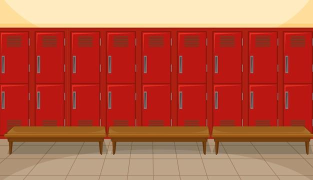 Спортивная раздевалка со шкафчиком